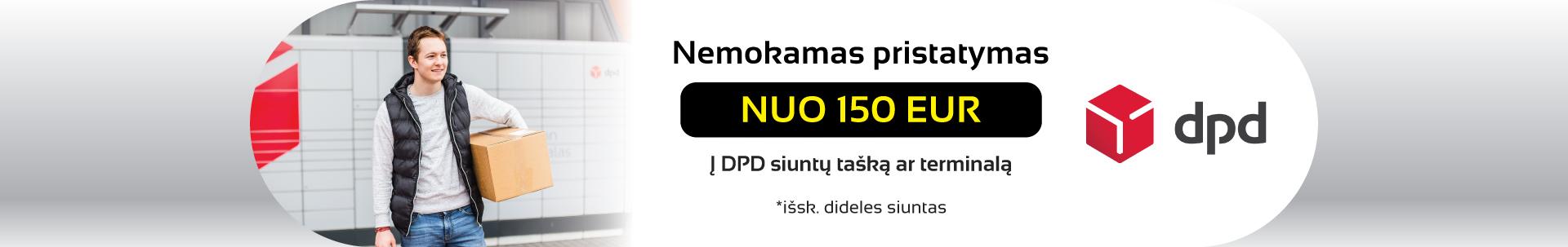 Nemokamas pristatymas nuo 150 EUR